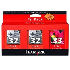 LEXMARK 3PANZ02 | #32 & 32 & 33 TRIPLE PACK INK