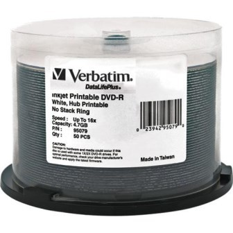 VERBATIM 95079 | 50Pk DVD-R Spindle IJ Wide