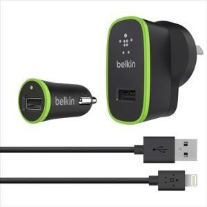 BELKIN F8J031AU04-BLK | Micro Wall/Car Charger 5V w/ LTG CABLE