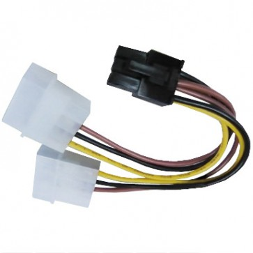 LEADTEK X01G0017 |  2 x 4 Pin Molex to 1 x 6 Pin PCI-E