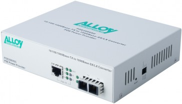 ALLOY POE2000SC | PoE PSE Gigabit Ethernet Media Converter 1000Base-T to 1000Base-SX (SC), LFP, 550m