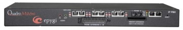 Epygi QUADROM26XI | SME IP PBX with 6x BRI ISDN and 26x FXS, Supporting up to 80 IP Extensions
