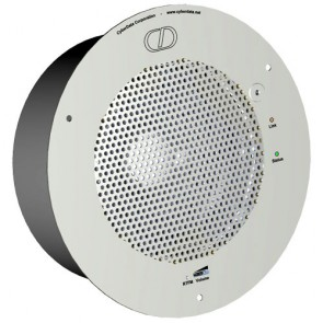 Cyberdata 11180 | VoIP Ceiling Mounted Talk-Back Speaker Remote Push-To-Talk Button - Grey White