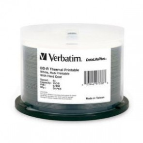 VERBATIM 97338 | Blu-Ray 25GB 25Pk Spindle White Wide The