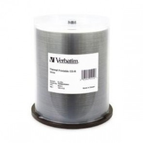 VERBATIM 95253 | CD-R 80 Min WHT THERM 100 Pk 52x