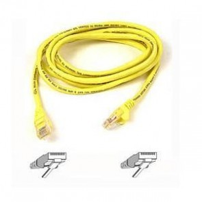 BELKIN A3L791B50CM-YLS | 50CM YLLW CAT5E SNAGLESS PATCH CABLE