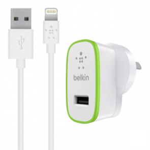 BELKIN F8J125AU04-WHT | Boost Up 12W Wall Chrgr with Lghtng Cbl
