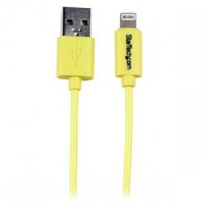 STARTECH USBLT1MYL | 1m Yellow 8-pin Lightning to USB Cable