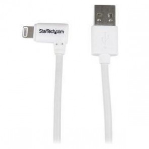 STARTECH USBLT1MWR | 3ft Angled Lightning to USB Cable White