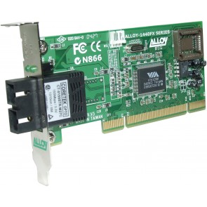 ALLOY 1440LSC4 | PCI 100Base-FX Singlemode NIC (SC) LP Bracket, 40Km