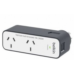 BELKIN BST200AU | Domestic Travel Surge with 2 USB Ports