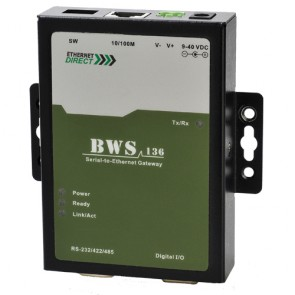 EthernetDirect BWS-136 | Single Port Serial to Ethernet Gateway
