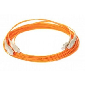 ALLOY CAB10F.ST | 10 Metre Multimode Fibre Optic Patch Lead 62.5µm, Orange sheathing, ST to ST connectors