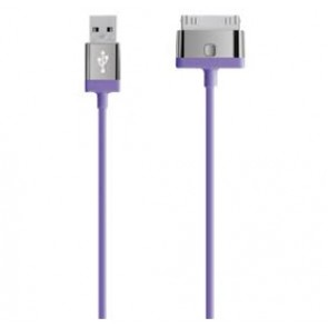 BELKIN F8J041QE04-PUR | CHARGE SYNC CABLE 21.A - PURPLE