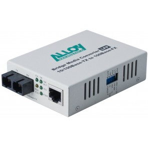 ALLOY FCR200SC.0515 | 100Mbps Standalone/Rackmount Media Converter 100Base-TX to 100Base-FX (SC), 1550nm, 5Km