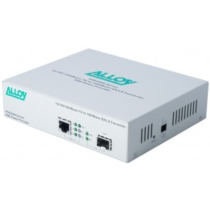 ALLOY POE2000SFP | PoE PSE Gigabit Ethernet Media Converter 1000Base-T to 1000Base-SX/LX (SFP), LFP