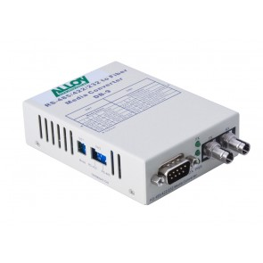 ALLOY SCR460ST-3 | Serial to Fibre Standalone/Rack Converter RS-232/422/485 DB-9 to Singlemode ST, 20Km