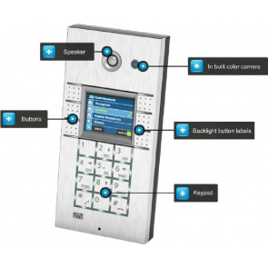 2N Helios 9137131CU | 2N Helios Vario IP Door Entry System. Intercom with 3 Buttons and Camera, IP53 case