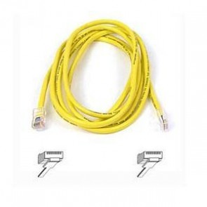 BELKIN A3L980B50CM-YLS | 50CM YLLW CAT6 SNAGLESS PATCH CABLE