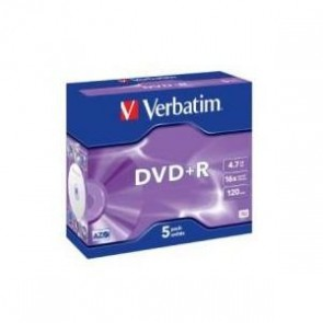 VERBATIM 95049 | DVD+R 5pk Jewel Case