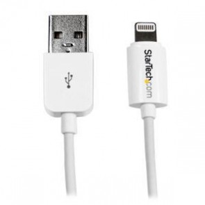 STARTECH USBLT1MW | 1m White 8-pin Lightning to USB Cable