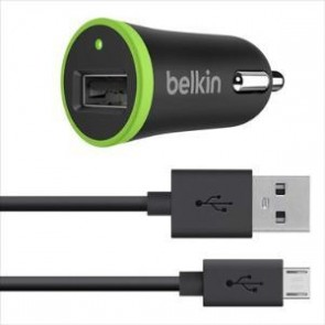 BELKIN F8M668BT04-BLK | 2.1a Car charger with Micro USB Cable