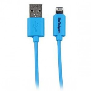 STARTECH USBLT1MBL | 1m Blue 8-pin Lightning to USB Cable