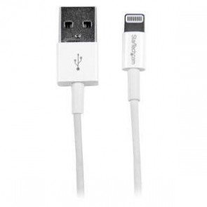 STARTECH USBLT1MWS | 1m White Slim Lightning to USB Cable