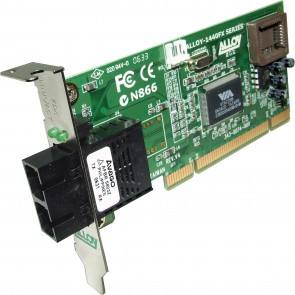 ALLOY 1440LSC2 | PCI 100Base-FX Singlemode NIC (SC) LP Bracket, 20Km