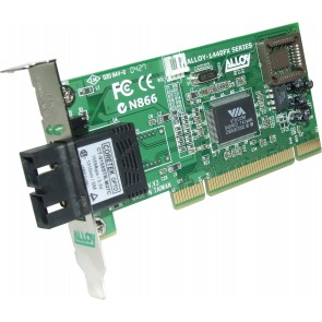 ALLOY 1440LSC6 | PCI 100Base-FX Singlemode NIC (SC) LP Bracket, 60Km