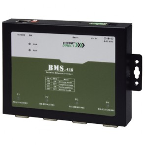 EthernetDirect BMS-436 | Four Port High Speed Serial to Ethernet Gateway