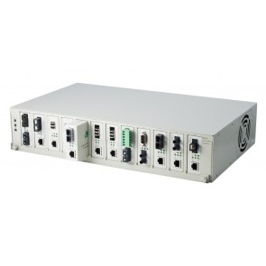 ALLOY DCR12RADC | Media Converter Chassis, 12 Slot with Dual Redundant AC and DC Power Modules
