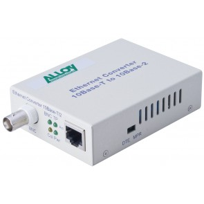 ALLOY ECR10R | Ethernet Standalone/Rackmount Media Converter 10Base-T (RJ-45) to 10Base-2 (BNC), 185m