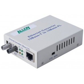 ALLOY ECR10ST | Ethernet Standalone/Rackmount Media Converter 10Base-T (RJ-45) to 10Base-FL (ST), 2Km
