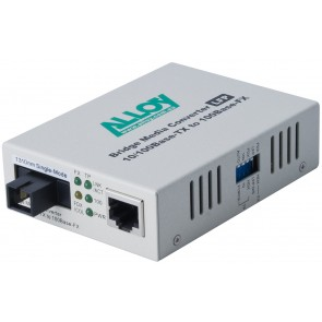 ALLOY FCR200S3.20 | 100Mbps Standalone/Rackmount Media Converter 100Base-TX to 100Base-FX 1310nm WDM, 20Km